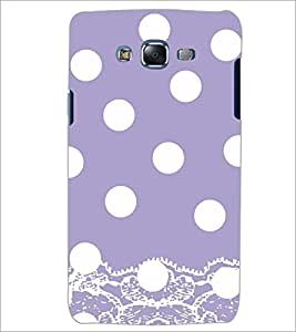 PrintDhaba WHITE CIRCLE PATTERN D-6873 Back Case Cover for SAMSUNG GALAXY ON7 (Multi-Coloured)