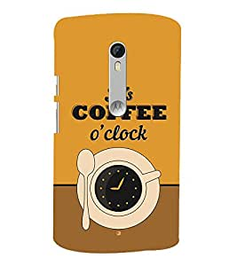 It's Coffee Time 3D Hard Polycarbonate Designer Back Case Cover for Motoroal Moto X Play
