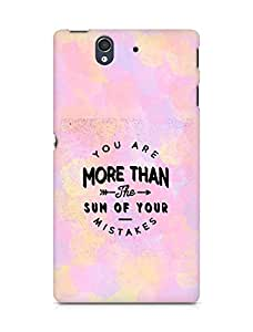 AMEZ you are more than the sum of your mistakes Back Cover For Sony Xperia Z