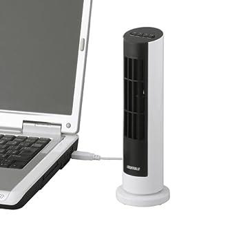 iBUFFALO USB扇風機 タワータイプ 風量調整付 ホワイト BSOTOS09WH