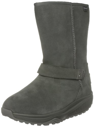 Skechers Shape Ups Women's Xw Bollard Charcoal Fur Trimmed Boots 24860 3 UK