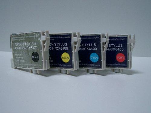 Start - 1 kompatible Patrone zu Epson T0442 - cyan - passt in die folgenden Drucker: Stylus C 64, C 64 Photo Edition, C 65, C 66, C 66 Photo Edition, C84, C84 CN, C84 N, C 84 PE, C 84 Photo Edition, C84 Wifi, C84 WN, C 85, C86, C 86 Photo Edition, Stylus CX 1500, 3500, 3600, 3650, 6400, 6500, 6600, PM-A 550, PM-A 700, PX-V 500. Sofortiges Einsetzen der Tintenpatrone - kein Chipumbau - 100% Füllstandsanzeige - Top Tinte - Qualitäts Ersatzpatrone.