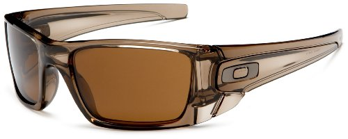 oakley sunglasses brown frame  oakley men's fuel cell rectangular sunglasses,polished brown smoke frame/dark bronze lens,