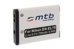 Batterie EN-EL19 pour Nikon S01, S100, S2500, S2550, S2600, S2700, S3100, S3300...+ voir liste!