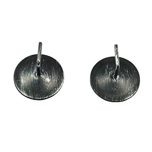 Lot de 2 supports adhésifs métal Noir patiné