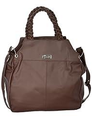Bhawna Enterprises Leather Adjustable Strap Women's Handbag (BE_DABR32, Brown)