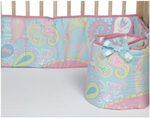 My Baby Sam Pixie Baby Bumper - Aqua / Pink