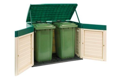 Plastic Garden Shed Box Chest Storage Unit For Wheelie Bin Tools Bike Rust Free