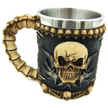 Gothic Tribal Skull Tankard Coffee Mug Cup Creepy