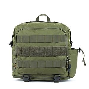 les fans de l'Armée tactique Sac à dos Camping / simple sac à bandoulière sport détente extérieure-Army Green 30L