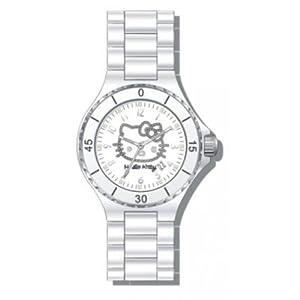 Hello Kitty 4401802 Children's Analog Quartz Watch with Ceramic Bracelet