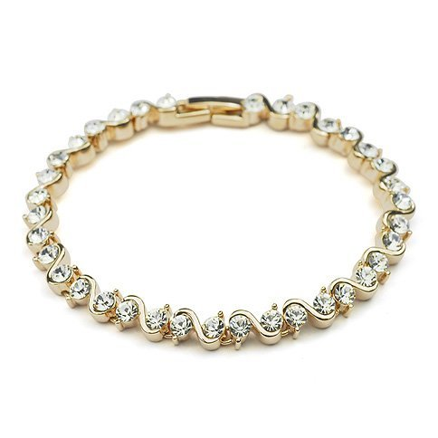 Bracelet with Swarovski Elements in 18ct Rose Gold Finish