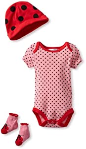 Vitamins Baby Baby-Girls born 3 Piece Ladybug Gift Set from Vitamins Baby