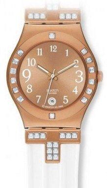 Swatch R22593112 - Orologio da polso da donna, cinturino in plastica colore bianco