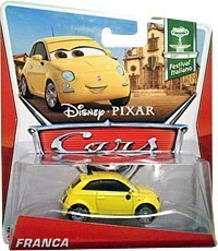 Disney/Pixar Cars, Festival Italiano Die-Cast Vehicle, Franca #4/10, 1:55 Scale