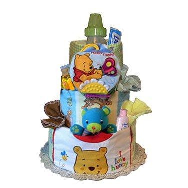 Tumbleweed Babies 1080033 Winnie The Pooh Deluxe Diaper Cake- 3 Tier- Neutral