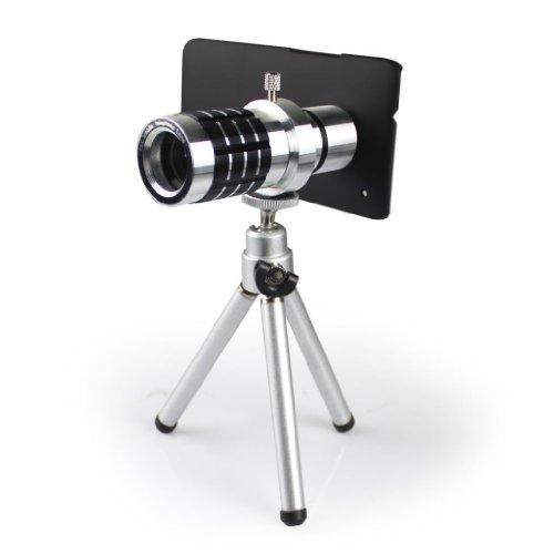 12X Aluminum Optical Zoom Telescope Camera Lens With Mini Tripod For Htc One M7
