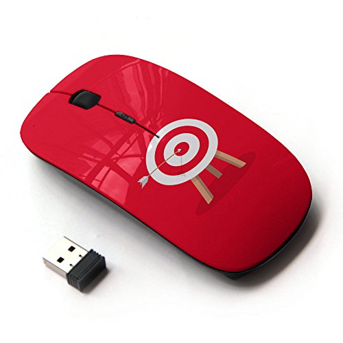 XP-Tech [ Mouse Senza Fili Ottico 2.4G ] - Red Bulls Eye Archery Target Bow Arrow
