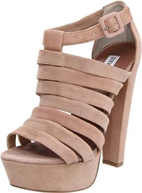 Steve Madden Women's Audrinaa Platform Sandal,Blush Suede,6.5 M US