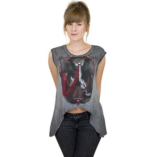 trueprodigy -  T-shirt - Collo a U  - Donna grigio X-Small
