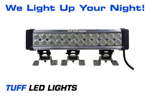 """Tuff Led Lights 15"""" Inch Super Led Flood Light Bar 72 Watt 3500 Lumen Utv Atv Polaris Rzr Razor Yamaha Rhino Can Am Commander"""
