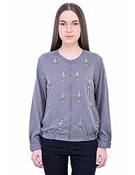 Oxolloxo Women embellished bomber jacket