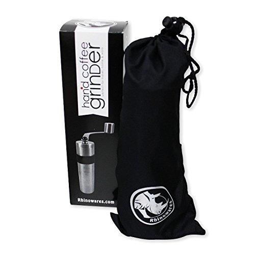 BrewGlobal Rhinoware Hand Coffee Grinder, Stainless Steel (RWHANDGRINDER)