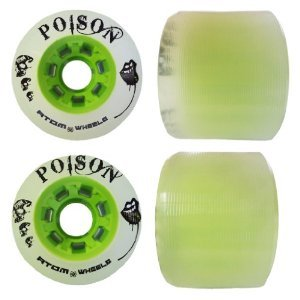 Best Review Of Atom Poison Wide Skate Wheels 4-Pack 84A Hardness and Size 62mm x 44mm Color Ghost Gr...