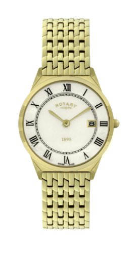 Rotary GB08002-01 Mens Ultra Slim Gold Plated Watch