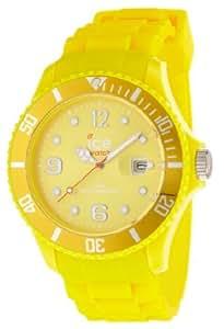 ICE-Watch - Montre Mixte - Quartz Analogique - Ice-Forever - Yellow - Big - Cadran Jaune - Bracelet Silicone Jaune - SI.YW.B.S.09