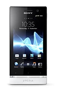 Sony Xperia U Smartphone (8,9 cm (3,5 Zoll) Touchscreen, 5 Megapixel Kamera, Android 2.3 OS) weiß/gelbes Wechselcover