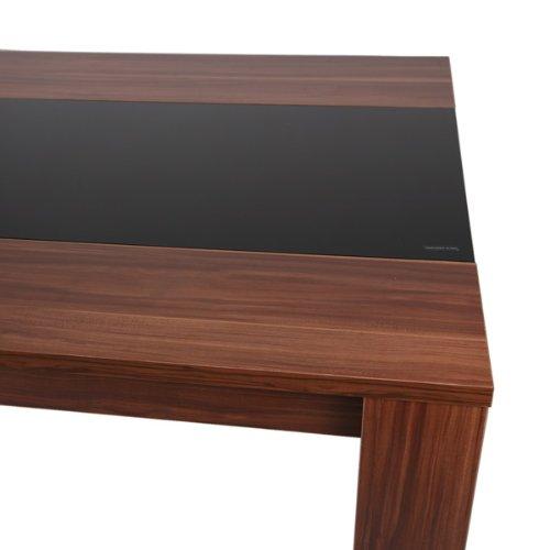 Esstisch mit glaseinlage com forafrica for Design esstisch schwarz glas