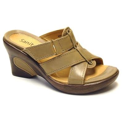 Amazon.com: Sanita Sandra Platforms Wedges Open Toe Shoes Black Womens