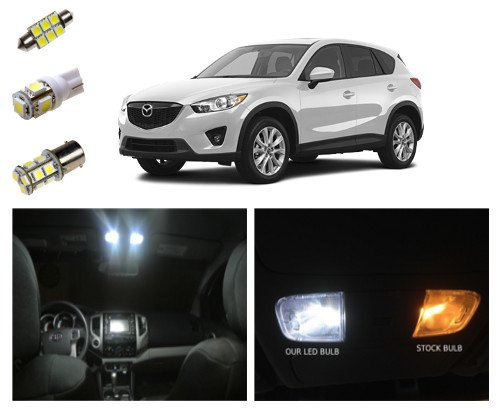 Mazda Cx-5 Led Package Interior + Tag + Reverse Lights (9 Pieces)
