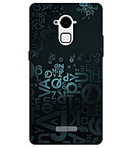 Chiraiyaa Designer Printed Premium Back Cover Case for Coolpad Note 3 (alphabet typography) (Multicolor)