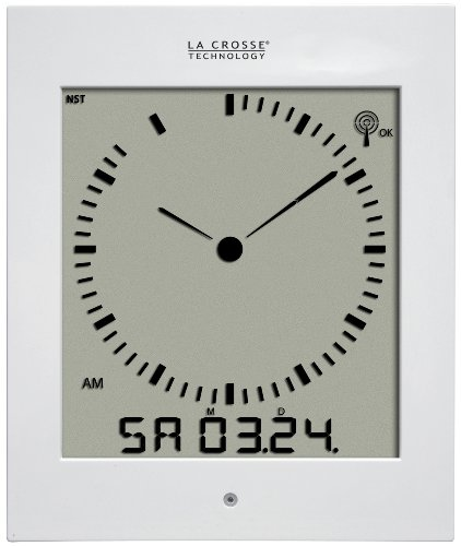 La Crosse Technology 513-1311A Analog Style Digital Atomic Wall Clock