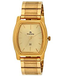 Maxima Mac Analog Gold Dial Mens Watch - 14752CPGY