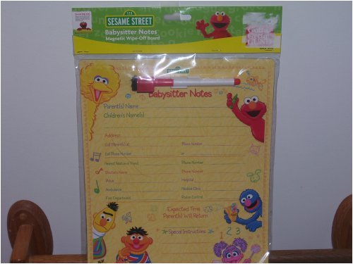 Gund Sesame Street Babysitter Notes Magnetic Wipe-Off Board front-836674