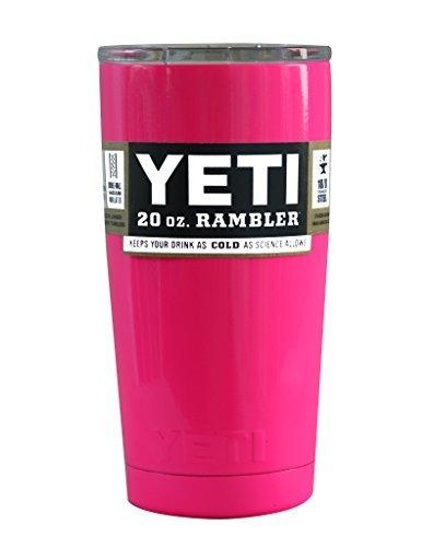 Powder Coated 20oz Yeti Rambler (Hot Pink)