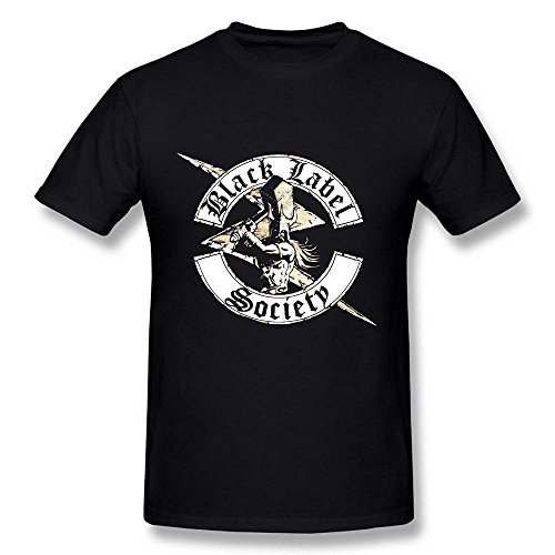 Arnoldo Blacksjd Men's Black Label Society Logo Black T shirt by Maven X-Large