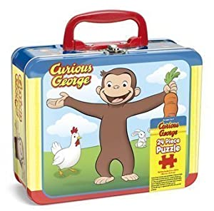 Pressman toys curious george puzzle in for Decor 6 piece lunchbox