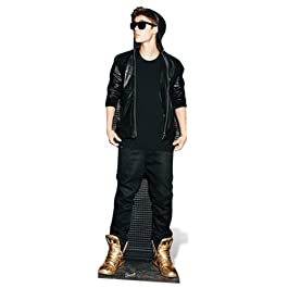 Justin Bieber - Lifesize Cut-Out Hoodie & Gold Shoes (in 170 cm)