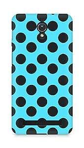Amez designer printed 3d premium high quality back case cover for Asus Zenfone C ZC451CG (Black n Blue Dots Pattern)