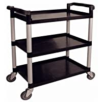 Polypropylene Mobile Trolley Large. Colour: Black