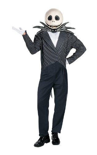 The Nightmare Before Christmas Jack Skellington Deluxe Adult Halloween Costume (Standard One-Size)