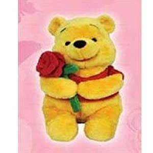 Disney Plush 10' Pooh With Rose Soft Boa