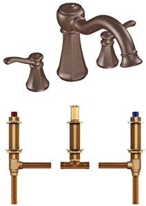 Moen T932ORB-4792 Vestige Two-Handle High Arc Roman Tub Faucet with Valve, Oil Rubbed Bronze
