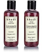 Khadi Lavender And Ylang Ylang Body Wash Sls And Paraben Free, 210ml(pack Of 2)