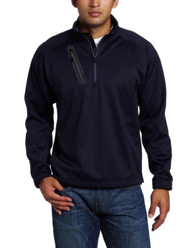 Zero Restriction Men'S Highland Pullover Soft Shell Jacket, Navy, Small