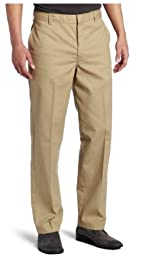 Dickies Men's Young Adult Sized Flat Front Pant, Khaki, 36X32